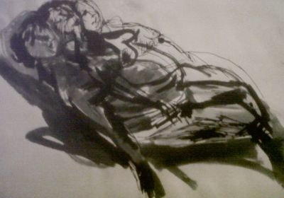 Reclining Female Nude life drawing